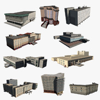 10 Low Poly Houses Set 01
