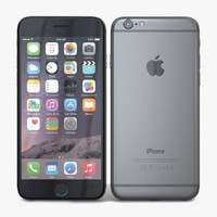 3d model apple iphone 6 space
