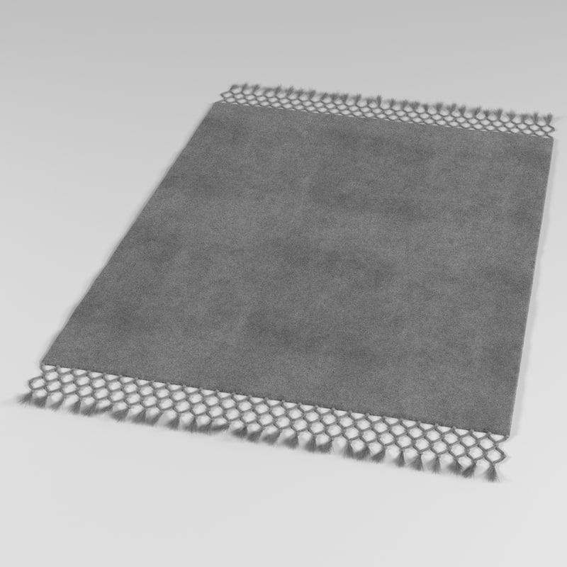 Fur Carpet 3d Model - Carpet Vidalondon