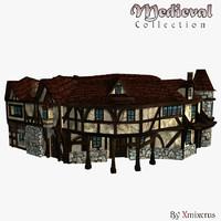 medieval ready buildings 3d 3ds