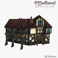 3d medieval ready buildings