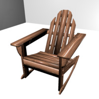 3d patio rocking chair model