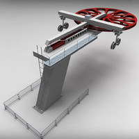 ski lift mechanism 3d model