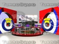 entertainment sets studio design 3d model