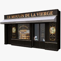 3d lwo france shop facade