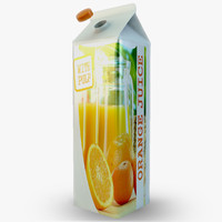 3d beverage carton model