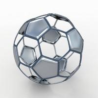 soccer ball black 3d model