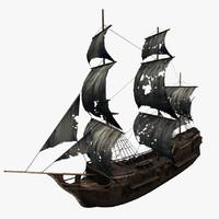3d model ghost ship s