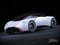 aston martin dp100 concept 3d model