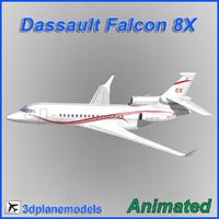 3ds dassault falcon 8x x