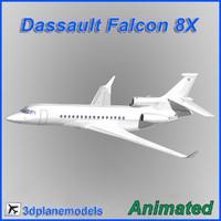 3dsmax dassault falcon 8x x