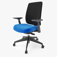 3d model haworth lively task chair