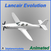Lancair Evolution PT6 Generic white