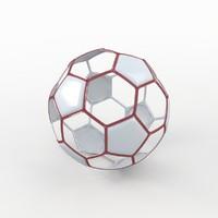 3d model of soccer ball white