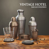 3d model restoration hardware vintage hotel