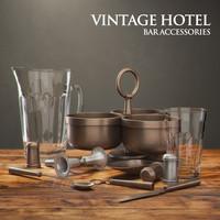 3d restoration hardware vintage hotel model