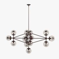 3d model modo chandelier 13 globes