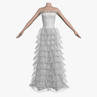 3d model wedding dress 008