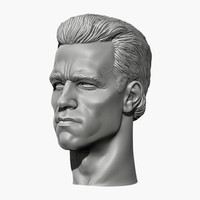 3d arnold schwarzenegger head 2 model