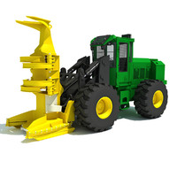 3ds max wheeled feller buncher