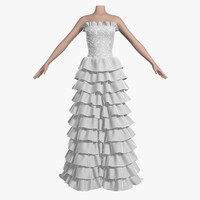 3d wedding dress 008 1 model