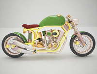 3d model harley cafe racer