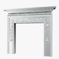 3d model classical chimney portal