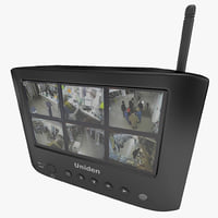 wireless surveillance lcd color 3d max