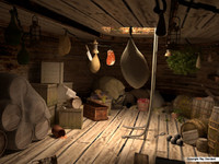 3d model ship pantry pirate