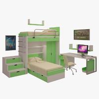 teen s room 3d model