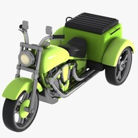 cartoon motorized tricycle 3ds