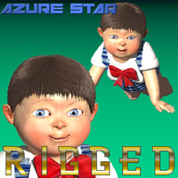 baby rigged characters 3d max