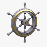 3d model of ship wheel