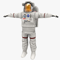 3d astronaut un-rigged model