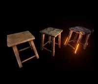 3d stools emissive