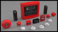 3d model of control alarm