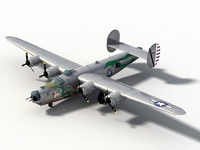3d purchase b-24j consolidated b-24 liberator model