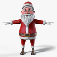 santa cartoon 3d model