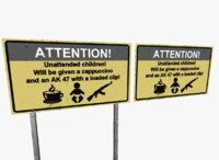 sign kids coffee 3d fbx