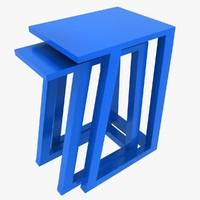 maya plastic nested stool