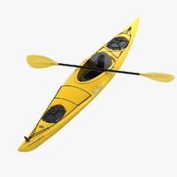 kayak 3d max