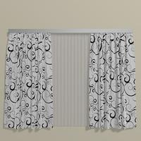 curtains 001 3d model