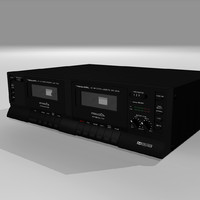 cassette player recorder 3d c4d
