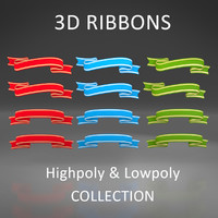 3d model badges ribbons
