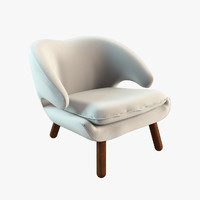 pelican chair finn juhl 3d model