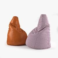 3d model photorealistic zanotta sacco