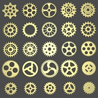 3d model of 25 gear wheels
