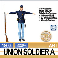 3ds max civil war union soldier