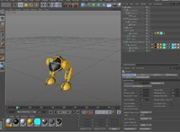 3d model robot biped rigged