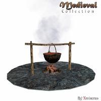 3d model soup campfire